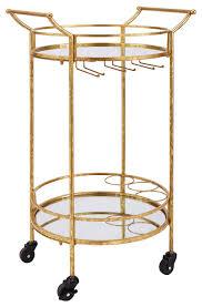 linon home decor products linon home decor products round gold metal bar cart reviews in 3