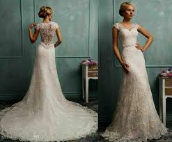 wedding dress lace back and sleeves wedding dresses with lace back and sleeves naf dresses