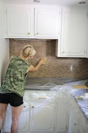how to paint kitchen tile backsplash kitchen i painted our kitchen tile backsplash the wicker how to