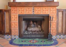interior vintage mexican interior design with fireplace for