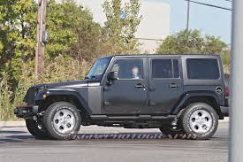 modified 4 door jeep wrangler 2018 jeep wrangler prototype spied with body suspension modifications