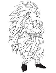 dragon ball gotrunks coloring u0026 coloring pages