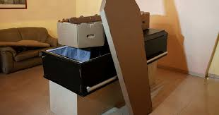 cardboard casket strapped venezuelans forced to use flat pack cardboard