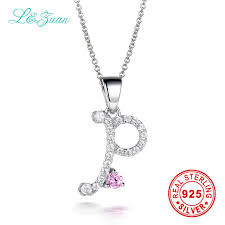 sted initial necklace l zuan brand luxury 925 sterling silver jewelry trendy letter
