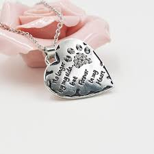 long heart pendant necklace images No longer by my side but forever in my heart pet paws crystal jpg