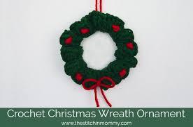 crochet wreath ornament the stitchin