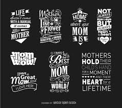 mothersday quotes mother s day quotes vector set vector download