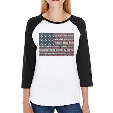 New Oregon Flag Women Baseball Tees Cute Womens Baseball Raglan Shirts 365 In