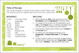 printable recipe cards template free printable recipe card template for word