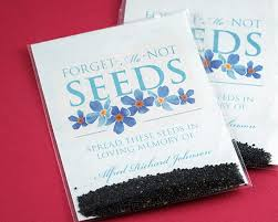 forget me not seed packets forget me not seed packets personalized forget me not seed packet