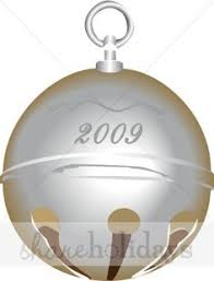 vector of silver sleigh bell with ribbon a trio of silver