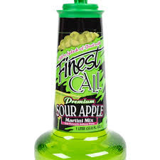 martini sour finest call premium sour apple drink mix 1 liter