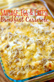 egg recipes for dinner sausage egg u0026 cheese biscuit casserole the country cook