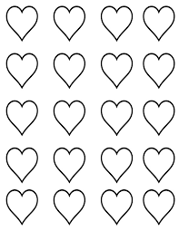 heart template heart stamps powerpoint template free sweet heart