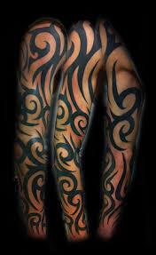 tribal sleeve by wildthingstattoo on deviantart