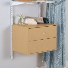 shop rubbermaid homefree series maple wood 2 drawer unit at lowes com