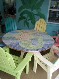 mosaic mermaid table top cottage plans pinterest mosaics
