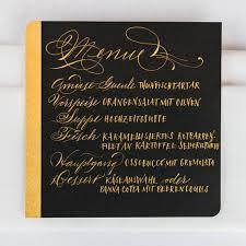 New Yorker Kitchen Cabinets Federflug Calligraphy Wedding Stationery Menu Cards