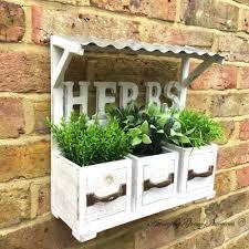 Window Box For Herbs Wooden Herb Box Ebay