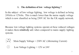 what is low voltage lighting low voltage lighting a technical introduction ppt video online