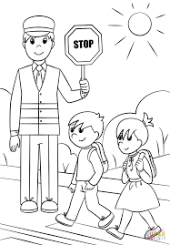 crossing guards coloring page free printable coloring pages