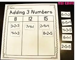adding 3 numbers miss giraffe s class adding 3 numbers