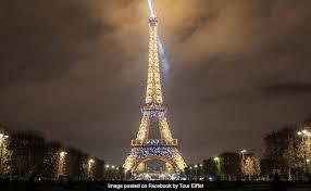 eiffel tower light show paris eiffel tower celebrates 300 million visitors with stunning