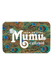 e giftcard e gift card show me your mumu