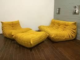 Ligne Roset Sleeper Sofa Yellow Alcantara Togo Sofa Set By Michel Ducaroy For Ligne Roset