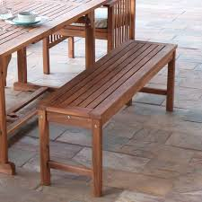 Acacia Wood Outdoor Furniture Durability by Walker Edison Owb7sbr Acacia Wood Patio Bench In Brown Solid Acacia
