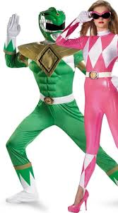 Morph Halloween Costumes Rangers Couples Costume Green Pink Power Ranger Costumes