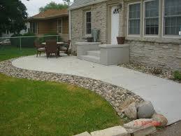 coolest backyard concrete patio with furniture home design ideas