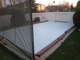 synthetic ice backyard rink backyard synthetic ice rink projects