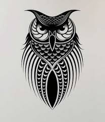 flying owl tattoo suitable for chest and upper back area the