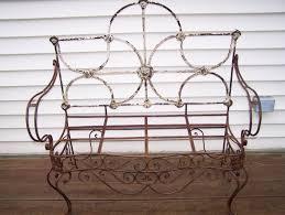 vintage wrought iron sofairon benchfrench style garden