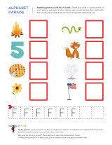 letter f worksheets sparks