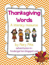 thanksgiving word cards and word walls in and tpt