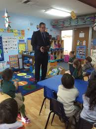 pilot visits the blue class during community helper month
