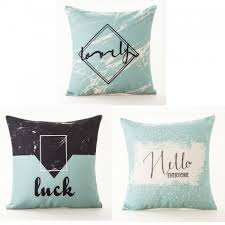 Decorative Letter Blocks For Home Color Block Letter Throw Pillows With Sayings Quote Decorative