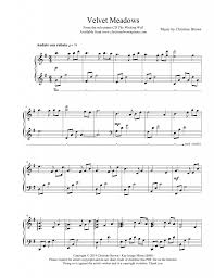 sheet music christine brown piano