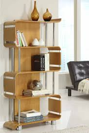 decoration ideas contemporary wall mounted cherry wood bookcase