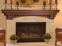 stone fireplace with wooden mantel shelf decorative fireplace