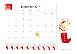 free printable december 2014 calendar for kids santa christmas