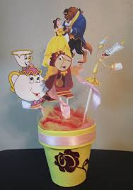 princess belle beauty and the beast birthday party centerpiece by