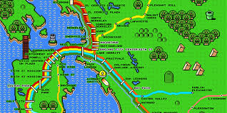 Super Mario World Map by Super Mario Map Of Bart U2014 The Bold Italic U2014 San Francisco