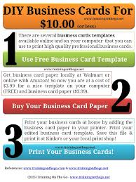 Print Free Business Cards At Home Training On The Go Google