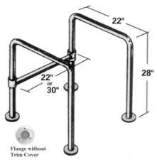 Bathroom Rails Grab Rails Grab Bar Stainless Steel Floor Mount Straddle Bar 22