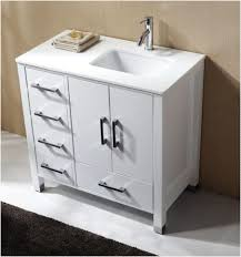 High Gloss Bathroom Vanity Anziano 36 High Gloss White Bathroom Vanity W Quartz Top Left
