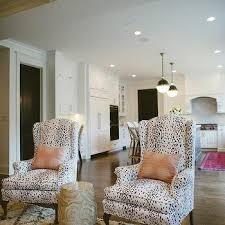Printed Living Room Chairs Design Ideas Blue Print Wingback Living Room Chairs Design Ideas