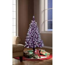Seeking Tinsel Time Pre Lit 4 Purple Tinsel Artificial Tree